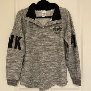 PINK Victoria's Secret Varsity Grey Sweater Small